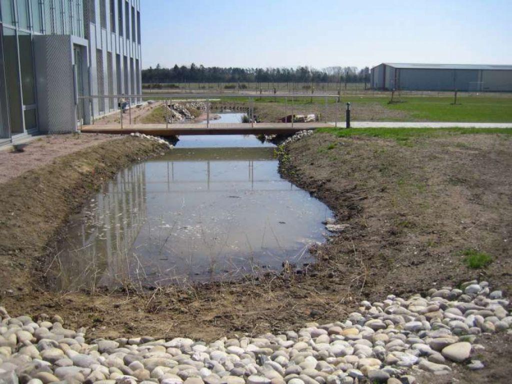Travaux d'aménagement d'un bassin d'orage à haguenau