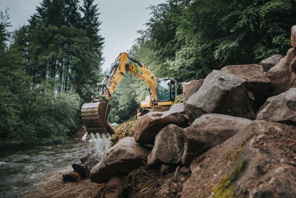 Travaux entretien cours d'eau Vosges