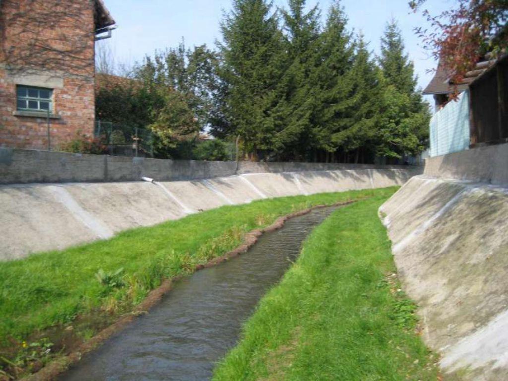 Réménagement d'un cours d'eau en Alsace
